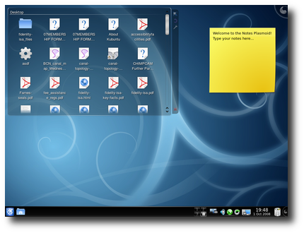 Fig.01: Kubuntu 8.10 KDE 4 Desktop In Action