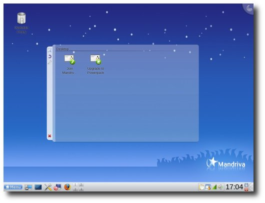 Fig.01: Mandriva Linux 2009 Desktop