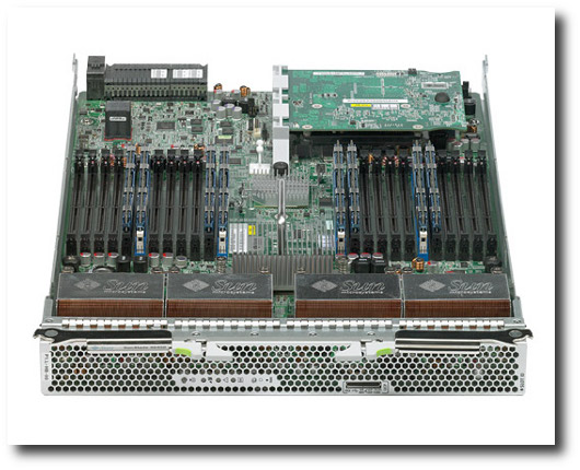 Fig.01: Sun Blade X6450 Server Module showing the internals