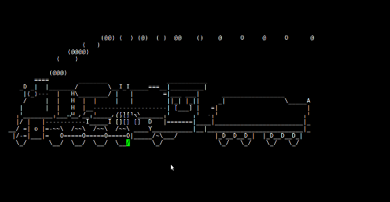 Run steam locomotive  i.e. get a train in shell when you type sl