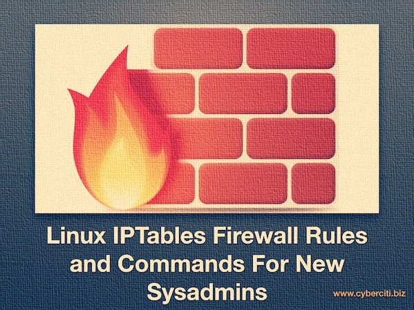 Linux Iptables Netfilter Firewall Examples For New SysAdmins
