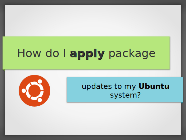 How do I apply package updates to my Ubuntu system